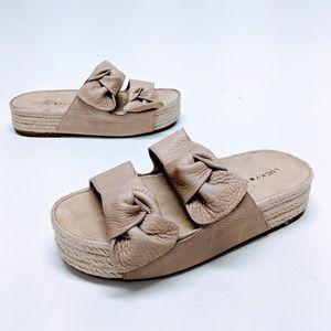 Lucky Brand Leather Izbremma Platform Sandals